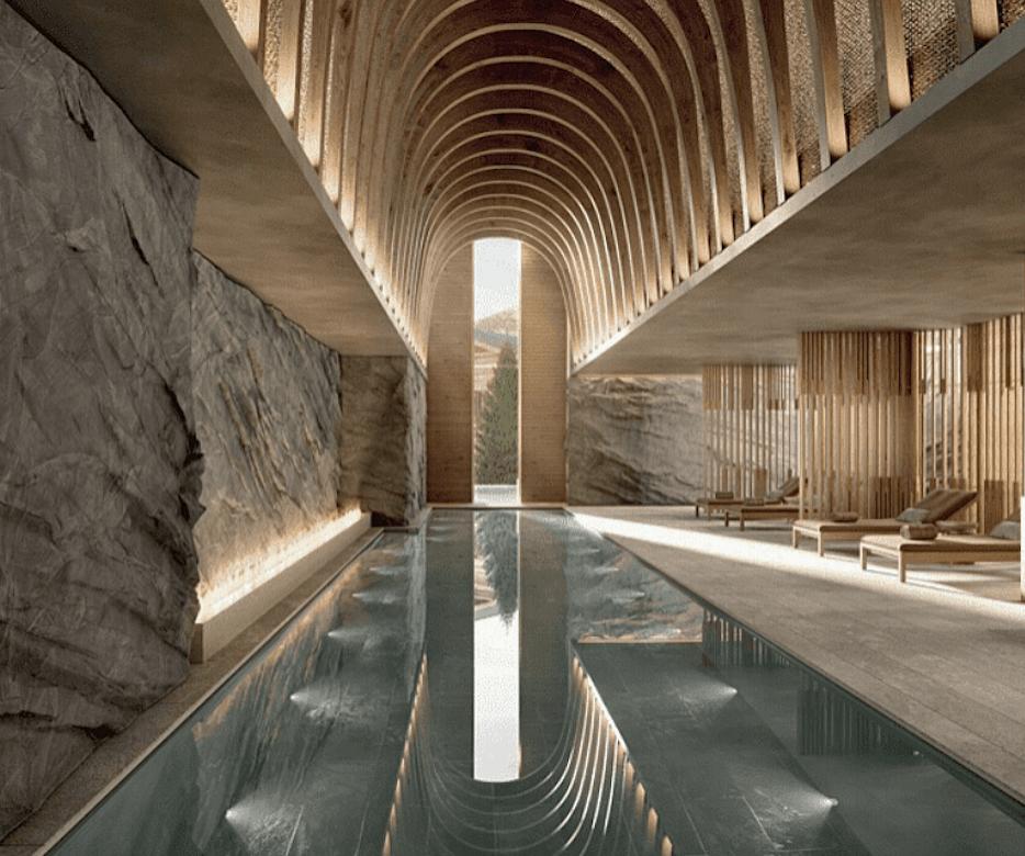 View of pool area at the 2026 Ritz-Carlton Zermatt Resort