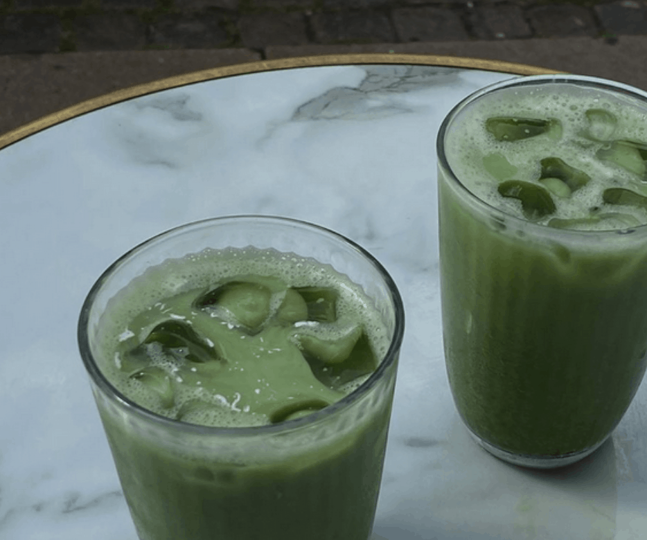 Matcha Latte Green Drink with Ice